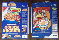 1973 Nabisco Klondike Pete Golden Nuggets Cereal Box UK Packet Poster (gregg_koenig) Tags: old uk breakfast train vintage poster golden cow box cereal 70s pete packet vault catcher 1970s nuggets saloon 1973 klondike nabisco pardner