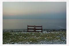 twins (TMarkou) Tags: sea water twins chairs double greece silence