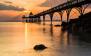 Last night's delight-Clevedon Pier, Somerset. Flickr Rank, #1  year 2014 - group DM's Lair