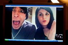 Late night webchat (Gary Kinsman) Tags: london webcam latenight monitor skype late computerscreen kentishtown 2014 webchat nw5 canon28mmf18 canoneos5dmarkii canon5dmkii