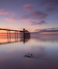 Clevedon Pier (peterspencer49) Tags: uk sunset seascape southwest clouds reflections somerset clevedon clevedonpier somersetcoast peterspencer peterspencer49