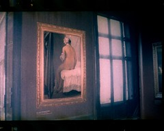 The Valpinon BatherJean Auguste Dominque Ingres (supersonicelephant) Tags: paris film lomo kodak louvre olympustrip35 ingres parisplage tetenalc41 kodakektar100 lomosmartphonescanner thevalpinonbather