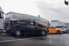 Mercedes and Audi (Bas Fransen Photography) Tags: cars mercedesbenz audi cl amg combo r8 cl63 mercedesbenzecoupeamg audir8plus twittercombasfransen