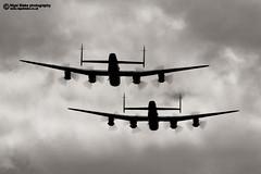 The BBMF and CWHM Avro Lancasters (Nigel Blake, 12 MILLION...Yay! Many thanks!) Tags: aviation wwii lancaster ww2 warbirds raf avro the 2014 bbmf marham cwhm nigelblake nigelblakephotography