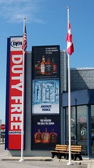 Duty-free store (Will S.) Tags: usa ny newyork america advertising border ad whisky vodka mypics dutyfree lewiston