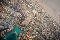 Dubai City Centre, seen from the top of Burj Khalifa (RUGRLN) Tags: world city mist building photoshop mall sand nikon dubai desert centre khalifa 1855mmf3556g burj lightroom tallest d3000 rugrln