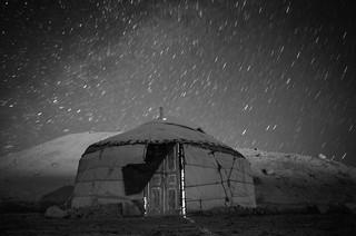 Kashgar: Kyrgyz yurt along Karakul Lake
