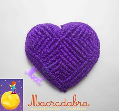 Corazon Violeta #macrame (Macradabra) Tags: hearts amor detalles violeta regalos corazones regalitos macram amoryamistad macradabra
