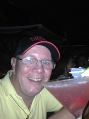Larry having a Cosmo at the Tiki Bar in Waikiki - Hawaii July 2014 (litlesam1) Tags: hawaii waikiki oahu 5 year larry 365 july2014 returntohawaiidayfivejuly2014