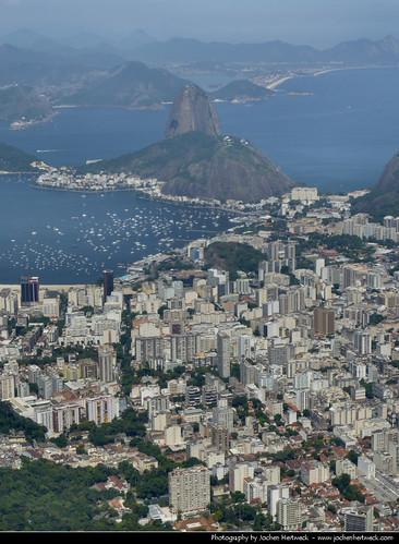 View from Corcovado, Rio de Janeiro, Brazil