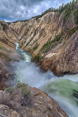 Grand Canyon of the Yellowstone (Fil.ippo) Tags: longexposure water river waterfall grandcanyon sigma yellowstonenationalpark wyoming powerful 1020 hdr filippo paesaggio yellowstoneriver waterscape yellowstonefalls cascate d5000 filippobianchi