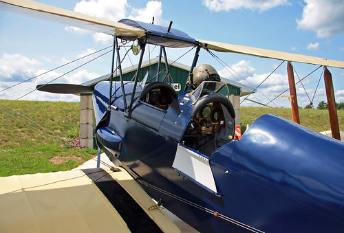 De Havilland DH-82A Tiger Moth (N18232) Rear Cockpit