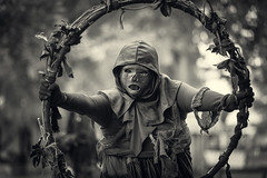 BRF 2014 Week 8 (SauceyJack) Tags: blackandwhite bw monochrome wisconsin bristol death blackwhite costume cosplay july monochromatic entertainment fantasy acting actor faire perform performer wi renaissance bristolrenaissancefaire act brf entertain pretend kenosha 2014 dansemacabre costumeplay lr5 lightroom5 canon1dx 7020028isiil sauceyjack
