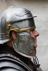 Ermine Street Guard (kimbenson45) Tags: silver shiny roman metallic profile helmet armor armour armored armoured erminestreetguard