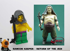 Rancor Keeper - ROTJ (HJR-Holland) Tags: star lego mini characters wars minifigs figures figs