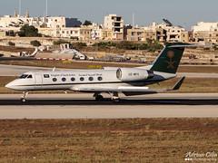 Kingdom of Saudi Arabia --- Gulfstream Aerospace Gulfstream G300 --- HZ-MF4 (Drinu C) Tags: plane aircraft sony dsc gulfstream mla bizjet g300 privatejet gulfstreamaerospace kingdomofsaudiarabia lmml hzmf4 hx100v adrianciliaphotography