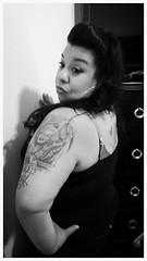 Chicana Pinup.... (Steve Herrera30) Tags: portrait bw cute sexy classic girl tattoo ink vintage fun women pretty photos bbw piercing latina chicana pinup classy chola tattooes blackandwhitephotos