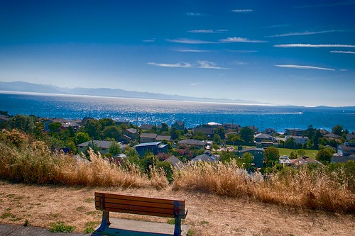 Bench with a View on Oak Bay Marina by jurgen.proschinger, on Flickr