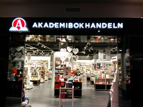 Akademibokhandeln butiksskyltning