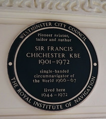 SIR FRANCIS CHICHESTER (goldstareagle) Tags: london westminster plaque francis sir chichester
