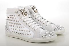 Philipp Plein Shout High-Top Sneaker Kalbsleder wei (white) (1) (spera.de) Tags: philipp plein shout hightop sneaker kalbsleder weis white philippplein damensneakers