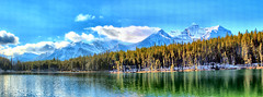 Herbert Lake, Banff National Park, Alberta, Canada - ICE(5)1120-1121i (photos by Bob V) Tags: mountains rockies rockymountains canadianrockies panorama mountainpanorama banff banffpark banffnationalpark banffalbertacanada reflection reflectiononwater tranquil tranquility