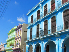 Cuban Building (shaire productions) Tags: street building architecture architectural element image imagery picture caribbean island cuba cuban travel photo photography design blue colorful