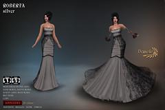 DANIELLE Roberta Silver (Dani Plassitz ~Danielle~) Tags: formal blacklace gown frills elegance danielle sl