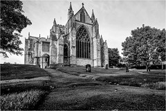 Ripon Cathedral . (wayman2011) Tags: fujifilmx70 lightroom wayman2011 bw landscapes cathedrals religeousbuildings historicbuildings graveyards gravestones cemetry northyorkshire ripon uk