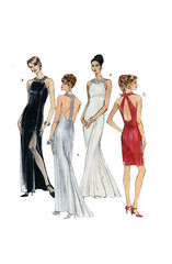 McCalls 7672 Evening Gowns (FindCraftyPatterns) Tags: eveninggown mccalls7672 womensdress sewingpattern jewelcollar fitandflarestyle fittedbodice fulllength train kneeslit