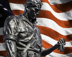 Veterans Day 2016 (Daveyal_photostream) Tags: composit topazimpressions digitalart veteran usa flag statue art photoshop lightroom dogtags veteransday america meandmygear mygearandme mycamerabag patriot patriotic soldier starsandstripes mycountry memorial tributephoto tribute