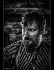der Schmied (geka_photo) Tags: gekaphoto molfsee schleswigholstein deutschland portrait freilichtmuseum schwarzweis availablelight schmied