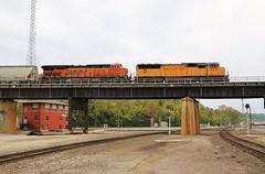 Over the Junction (BravoDelta1999) Tags: unionpacific up railroad kansascityterminal kct railway santafejunction kansascity missouri emd sd70m 4239 grain train