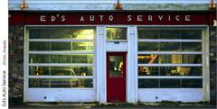 Eds Auto Service (jwvraets) Tags: grimsby garage edsautoservice servicebay dusk architecture kitlense opensource rawtherapee gimp nikon d7100 nikor18105mmvr redrule