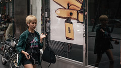 Another Me (McLovin 2.0) Tags: people girls candid blonde street streetphotography shop window reflection style urban city melbourne nikon d810 50mm