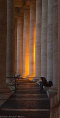 Alone on further corridor (Robert Benatzky Picture) Tags: robertbenatzkypicture rom rome vatikan italien italy lights lichter sule architektur