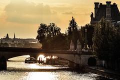 golden memories.. (@petra) Tags: petra paris france europe river seine light golden reflections bridge urban cityscape bateau boat riverside buildings louvre museedorsay silhouettes sky clouds nikond600