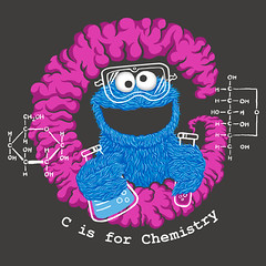 C is for Chemistry (Lucky1988) Tags: cookiemonster sesamestreet chemistry science humor popculture