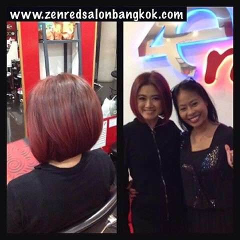 Thai TV celebrity Waraporn Sompong with master-stylist Paweerada at Zenred Bangkok Salon. Compagnia del colore - Italian Color & QOD Brazilian Keratin - Thanks see you again soon xx @zenredsalonbangkok @ten7yc @cdchairthailand @qodhairthailand Tel: 083600