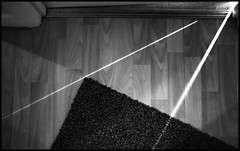 Shaft shapes (meezoid) Tags: texture light shaft abstract geometry triangles pattern door floor mat bw blackandwhite shades lighting shapes cool cool2 cool3 cool4 uncool cool5 uncool2