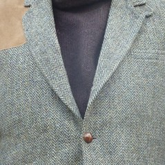 Harris Tweed, Suede Leather and Knit Wool (Michael A2012) Tags: fabric textures colors harris tweed knit wool handwoven suede leather