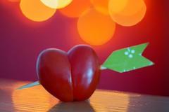arrow (Sabinche) Tags: arrow macromondays macromonday macro bokeh tomato red cherrytomato heart heartshaped