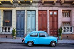 Ciudad Vieja | Montevideo (chamorojas) Tags: chamorojas albertorojas mvd montevideo photoblog uruguay fachada carro celeste fiat departamentodemontevideo choche auto vehculo facade doors puertas