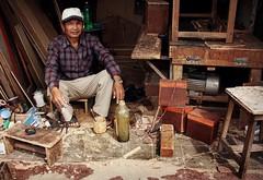 Environmental Portrait - Kathmandu (© Jamie Mitchell) Tags: kathmandu nepal asia asian nepalese nepali portrait portraiture environmental man carpenter wood woodwork craft messy dirty male face travel