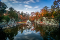 canal reflection (kderricotte) Tags: longexposure cocanal maryland reflection sonya6000 outdoor rocks sky clouds leebigstopper neutraldensityfilter 1018mm landscape watercourse creek canyon hill water