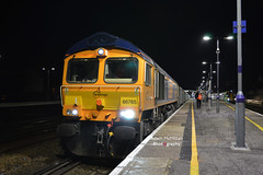 6Y44 66765 Grain Foster Yeoman - Crawley Yard (Adam McMillan Railway Photography) Tags: gbrf 66765 sits tonbridge after completing crew change while working 6y44 grain crawley yard with new jna wagons tow shed