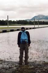 Pentax ME Super (Rossella Sollazzo) Tags: lake pentax film pellicola man uomo figura palermo sicilia italia sicily italy nature landscape