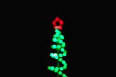 'Last Christmas' (NVOXVII) Tags: lights christmas xmas christmaslights festive christmastree december bokeh minimal green red black blackbackground star central