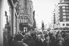 Knightsbridge crowds (Connor Corbett) Tags: london sony 30mm bw blackandwhite bokeh people travel city harrods cityscape abstract a6000 prime 14