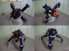 Starbreaker - Fighter (lski Hutas) Tags: lego bricks toys futuristic scifi starfighter mech transform spider walker